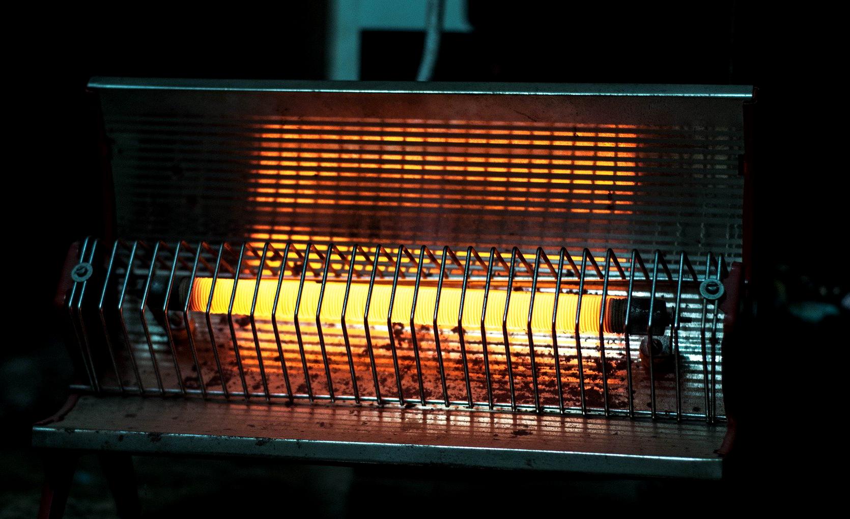 Dangerous electric bar heater